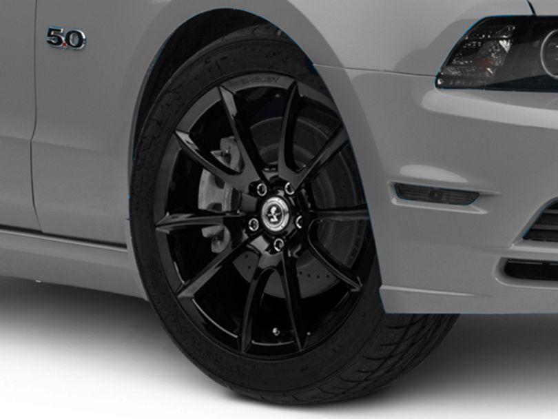 Shelby Super Snake Style Black Wheel; 19x8.5 (10-14 All)