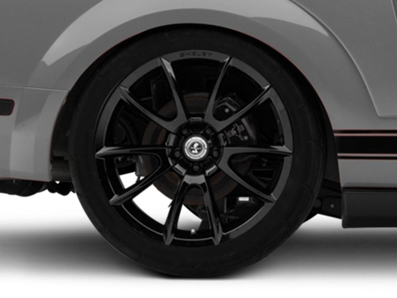 Shelby Super Snake Style Black Wheel - 20x10 - Rear Only (05-09 All)