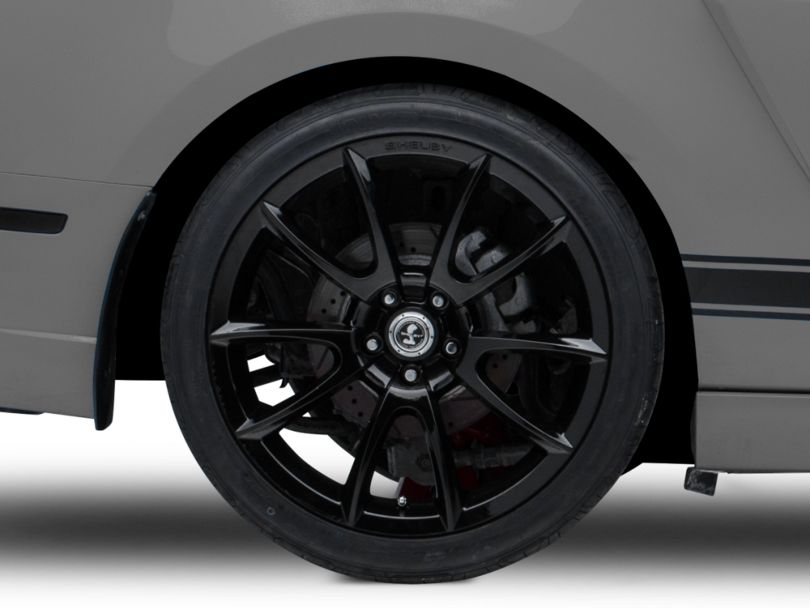 Shelby Super Snake Style Black Wheel; Rear Only; 20x10 (10-14 All)