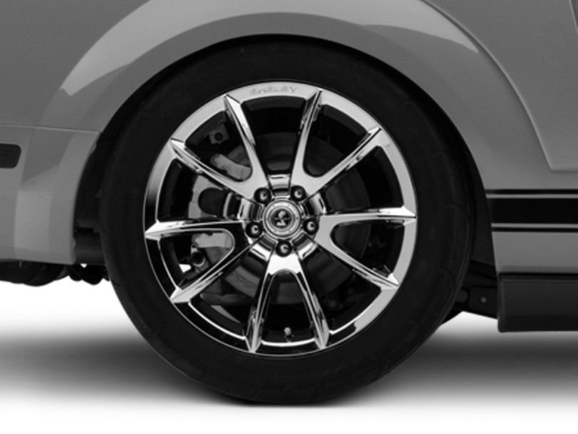 Shelby Super Snake Style Chrome Wheel - 19x10 - Rear Only (05-09 All)