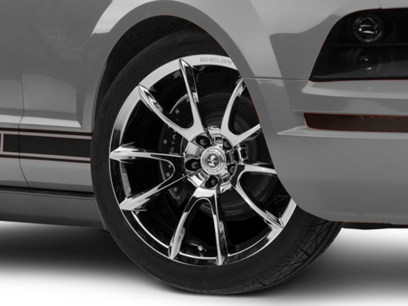 Shelby Super Snake Style Chrome Wheel; 20x9 (05-09 All)