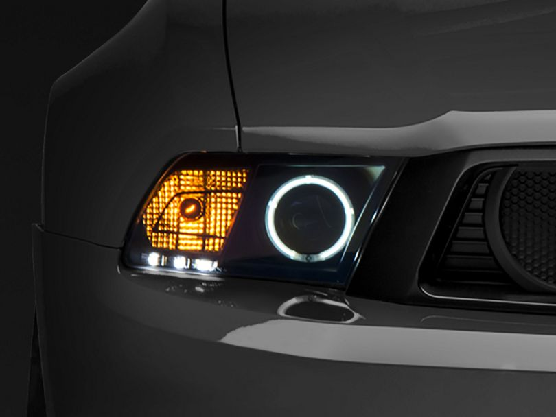 Raxiom Black Projector Headlights for Factory Halogen - CCFL Halo (10-12 GT, V6)