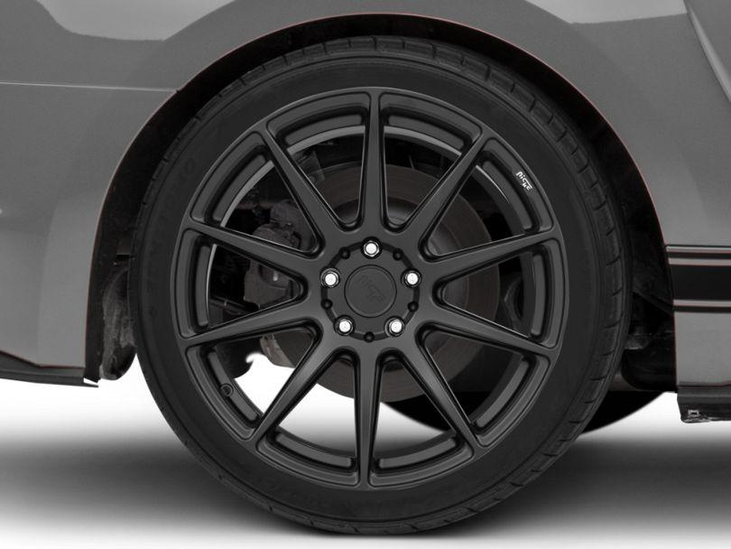 Niche Essen Matte Black Wheel; Rear Only; 19x10 (15-20 GT, EcoBoost, V6)
