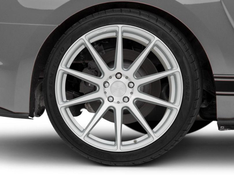 Niche Essen Silver Wheel; Rear Only; 20x10 (15-20 GT, EcoBoost, V6)