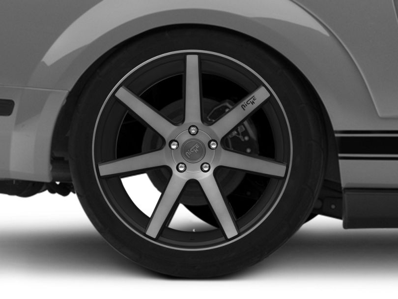 Niche Verona Double Dark Wheel; Rear Only; 20x10 (05-09 All)