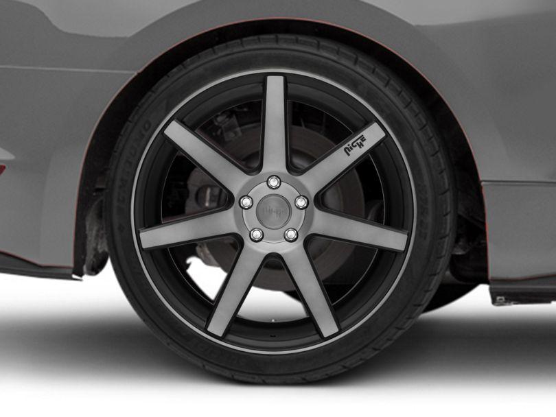 Niche Verona Double Dark Wheel; Rear Only; 20x10 (15-20 GT, EcoBoost, V6)