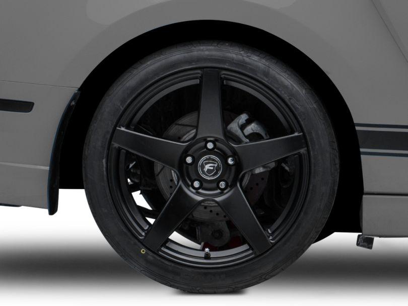 Forgestar CF5 Monoblock Matte Black Wheel; Rear Only; 19x10 (10-14 All)