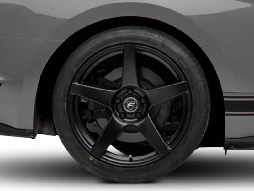 Forgestar CF5 Monoblock Matte Black Wheel; Rear Only; 19x11 (15-20 GT, EcoBoost, V6)