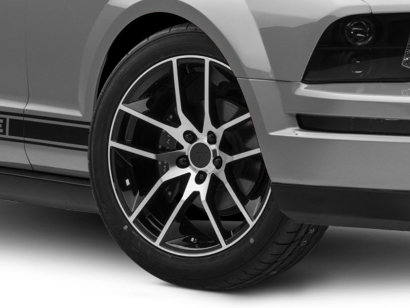 Magnetic Style Black Machined Wheel; 19x8.5 (05-09 All)