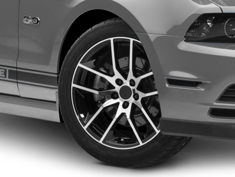 Magnetic Style Black Machined Wheel; 19x8.5 (10-14 All)