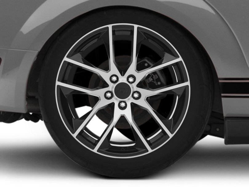 Magnetic Style Black Machined Wheel - 19x10 - Rear Only (05-09 All)