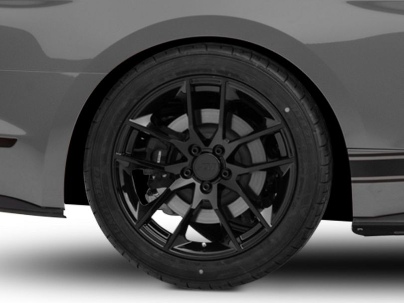 Magnetic Style Black Wheel; Rear Only; 19x10 (15-20 GT, EcoBoost, V6)