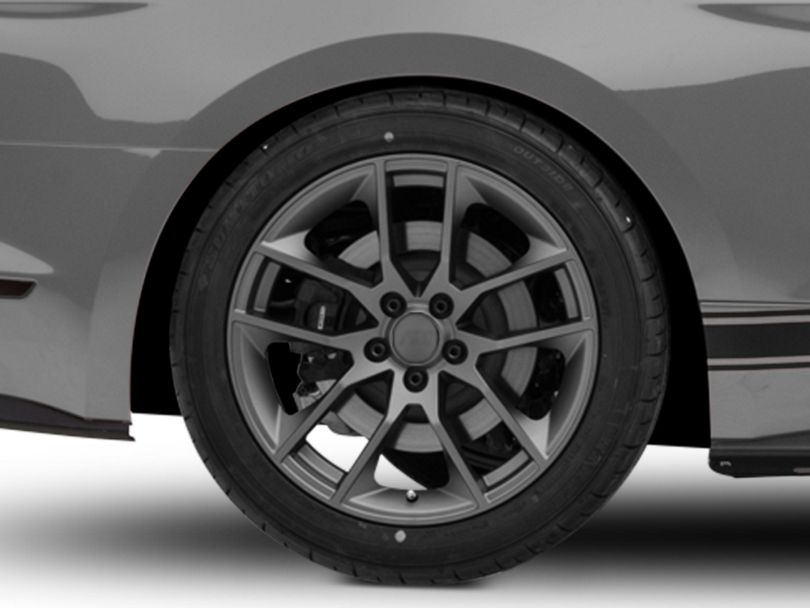 Magnetic Style Charcoal Wheel; Rear Only; 19x10 (15-20 GT, EcoBoost, V6)
