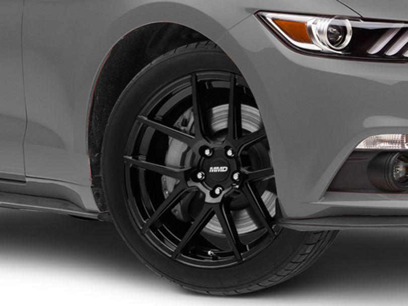 MMD Zeven Black Wheel; 19x8.5 (15-20 GT, EcoBoost, V6)