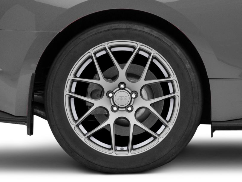 AMR Charcoal Wheel; Rear Only; 19x11 (15-20 GT, EcoBoost, V6)