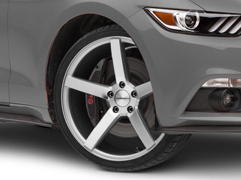 Vossen CV3-R Metallic Silver Wheel; 19x8.5 (15-20 Standard GT, EcoBoost, V6)