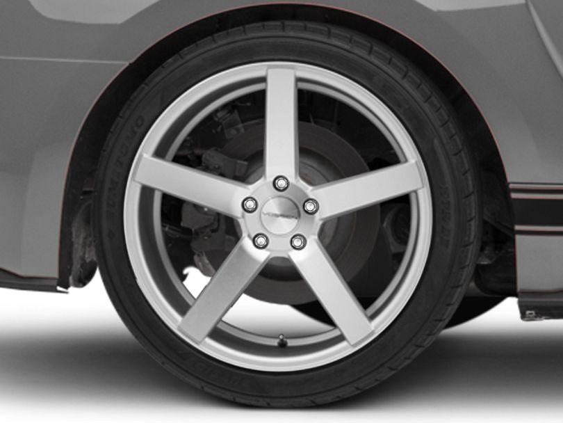 Vossen CV3-R Metallic Silver Wheel; Rear Only; 20x10.5 (15-20 GT, EcoBoost, V6)