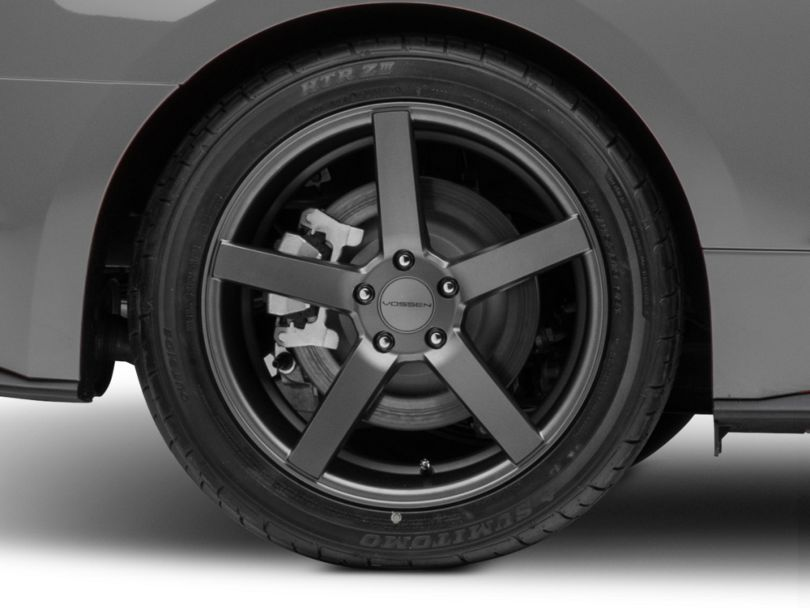 Vossen CV3-R Graphite Wheel; Rear Only; 19x10 (15-20 Standard GT, EcoBoost, V6)