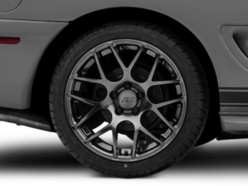 AMR Dark Stainless Wheel; Rear Only; 18x10 (94-98 All)