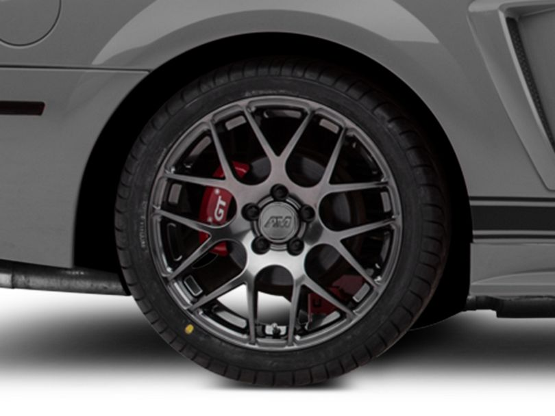 AMR Dark Stainless Wheel; Rear Only; 18x10 (99-04 All)