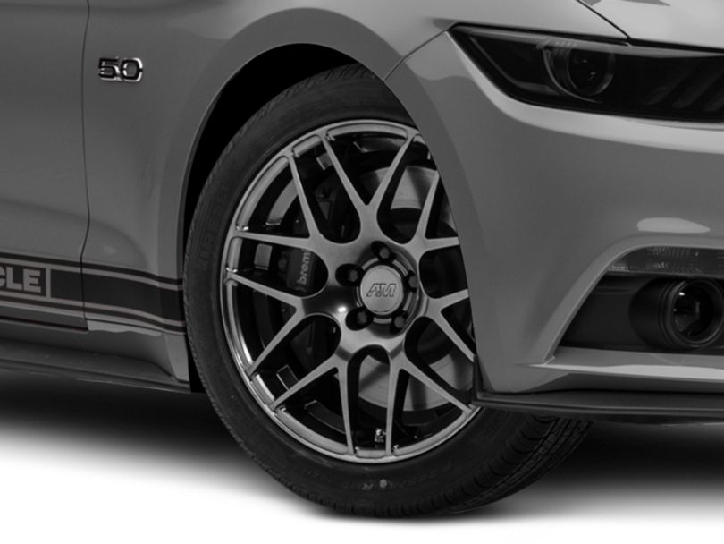 AMR Dark Stainless Wheel; 19x8.5 (15-20 GT, EcoBoost, V6)