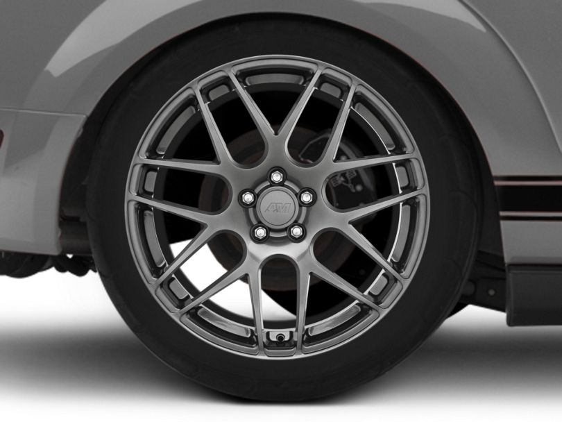 AMR Dark Stainless Wheel; Rear Only; 20x10 (05-09 All)