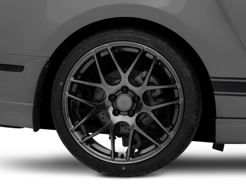 AMR Dark Stainless Wheel; Rear Only; 20x10 (10-14 All)