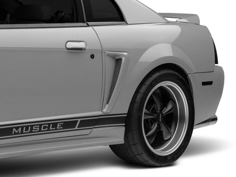 Ford Quarter Panel Side Scoop; Left Side; Unpainted (99-00 GT; 99-04 V6)