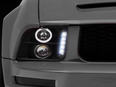 Axial Black Projector Headlights - LED Halo (05-09 GT, V6)