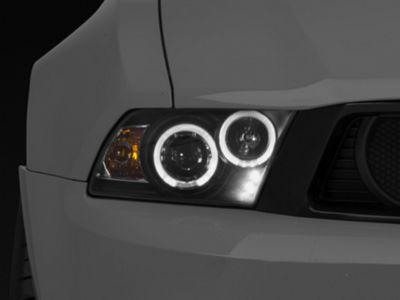 Axial Black Projector Dual Halo Headlights - LED (10-12 GT, V6)