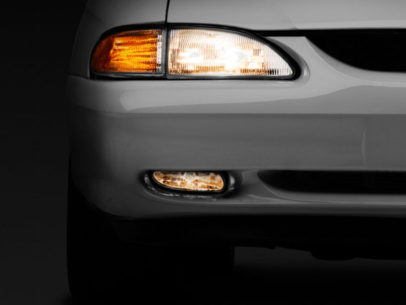 Axial Chrome Fog Lights - Pair (94-98 GT, V6)