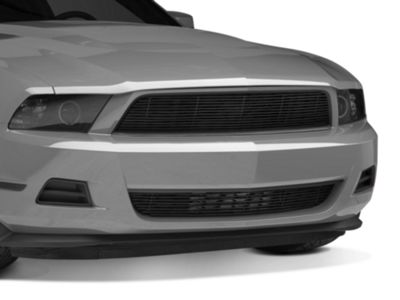 Modern Billet Pony Delete Upper & Lower Billet Grille - Black (10-12 V6)