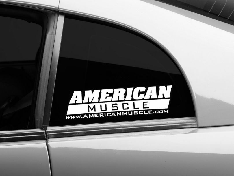 American Muscle Graphics AmericanMuscle Quarter Window Decal - White (79-20 All)