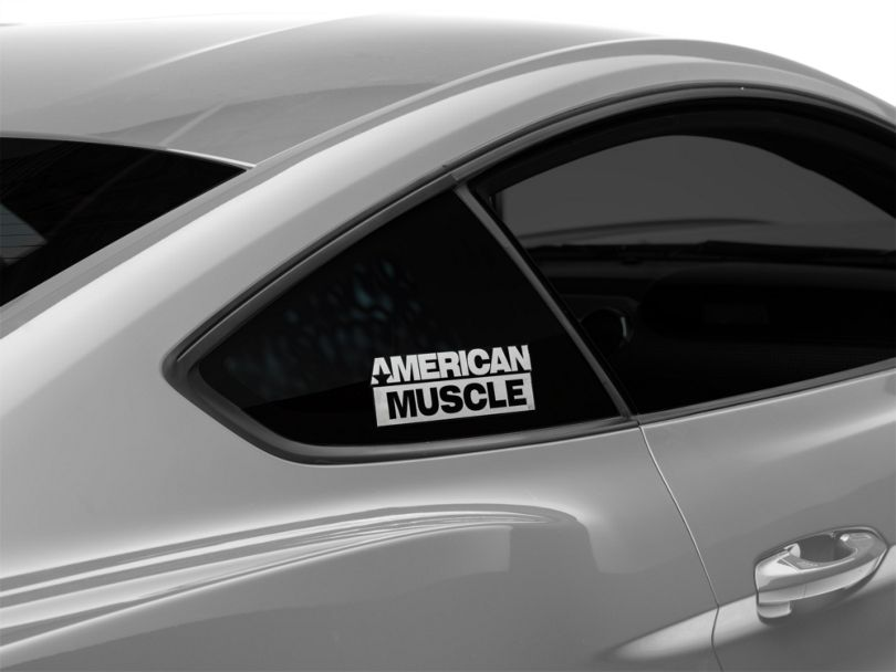 American Muscle Graphics AmericanMuscle Quarter Window Decal - White (15-20 All)
