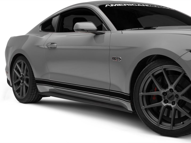 American Muscle Graphics Rocker Stripes; Black (15-20 All)