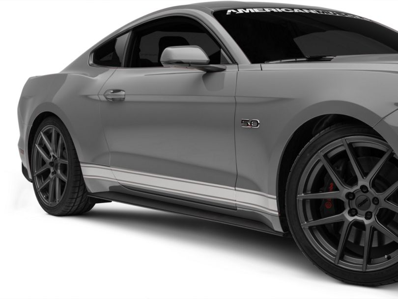 American Muscle Graphics Silver Rocker Stripes (15-20 All)