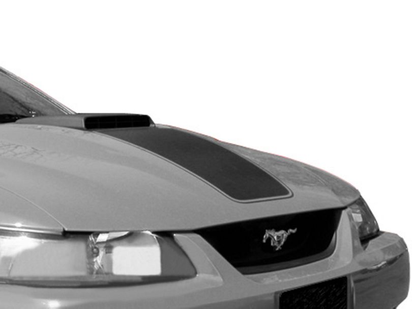 American Muscle Graphics Mach 1 Hood Decal; Black (03-04 Mach 1; 99-04 w/ CDC Shaker Systems)