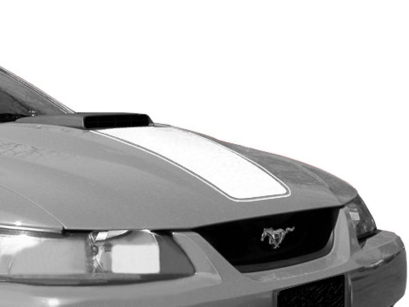 American Muscle Graphics White Mach 1 Hood Decal (03-04 Mach 1; 99-04 w/ CDC Shaker Systems)