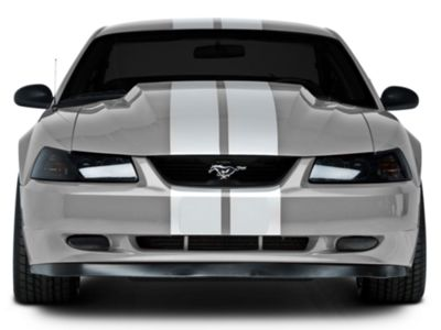American Muscle Graphics White Lemans Stripes - 8 in. (94-04 All)