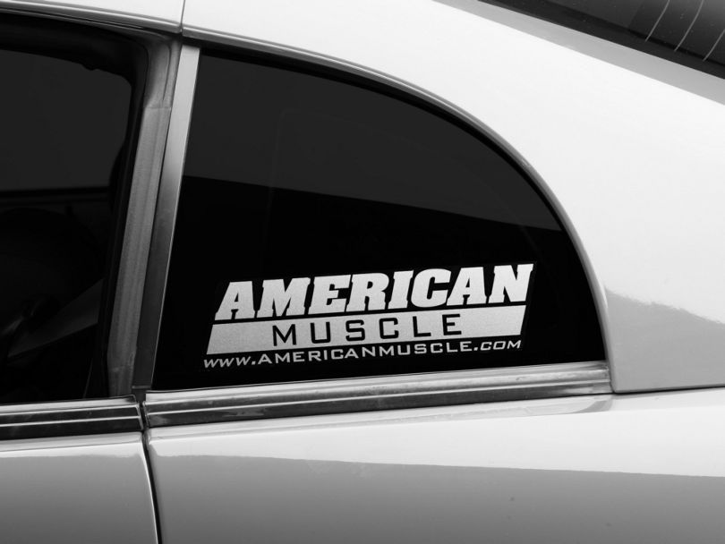 American Muscle Graphics AmericanMuscle Quarter Window Decal - Frosted Glass (79-20 All)