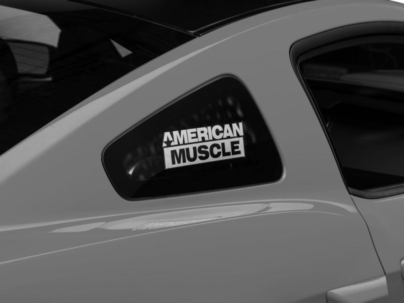 American Muscle Graphics AmericanMuscle Quarter Window Decal; Frosted (05-14 All)