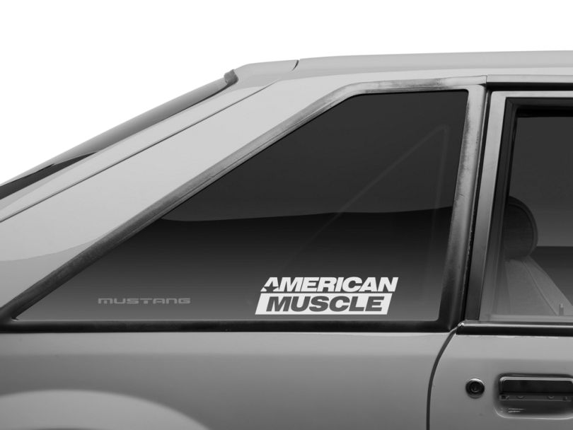 American Muscle Graphics AmericanMuscle Quarter Window Decal; Frosted (79-93 All)
