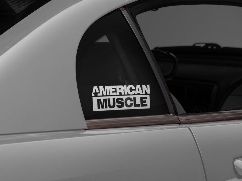 American Muscle Graphics AmericanMuscle Quarter Window Decal; Frosted (94-04 All)