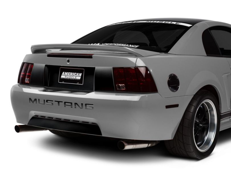 American Muscle Graphics Lower Rear Valance Accent; Gloss Black (99-04 GT, V6, Mach 1; 1999 Cobra)
