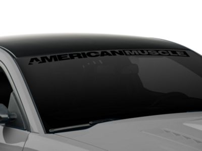 AmericanMuscle Windshield Banner - Black (05-17 All)