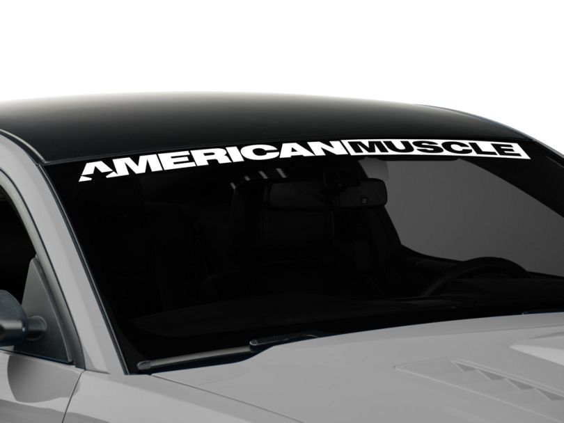 American Muscle Graphics AmericanMuscle Windshield Banner - White (05-14 All)