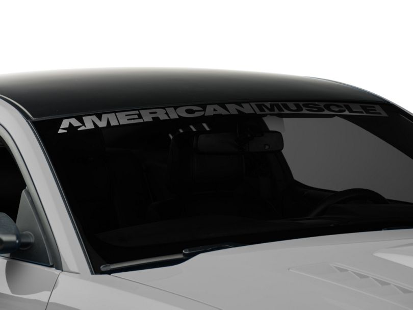 American Muscle Graphics AmericanMuscle Windshield Banner; Frosted (05-14 All)