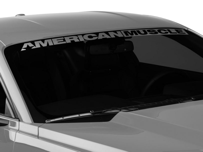 American Muscle Graphics AmericanMuscle Windshield Banner - Frosted (15-20 All)