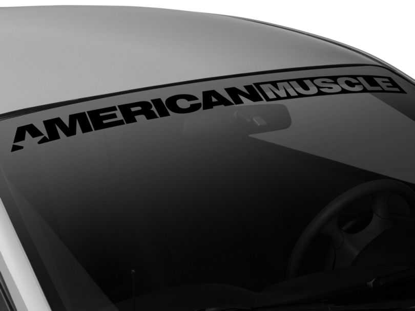 American Muscle Graphics AmericanMuscle Windshield Banner; Black (94-04 All)
