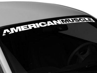 Add AmericanMuscle Windshield Banner - White (94-04 All)